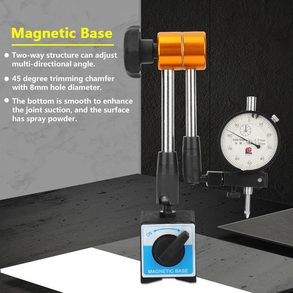 Adjustable Magnetic Gauge Stand Base Holder Digital Level Dial Test Indicator ED