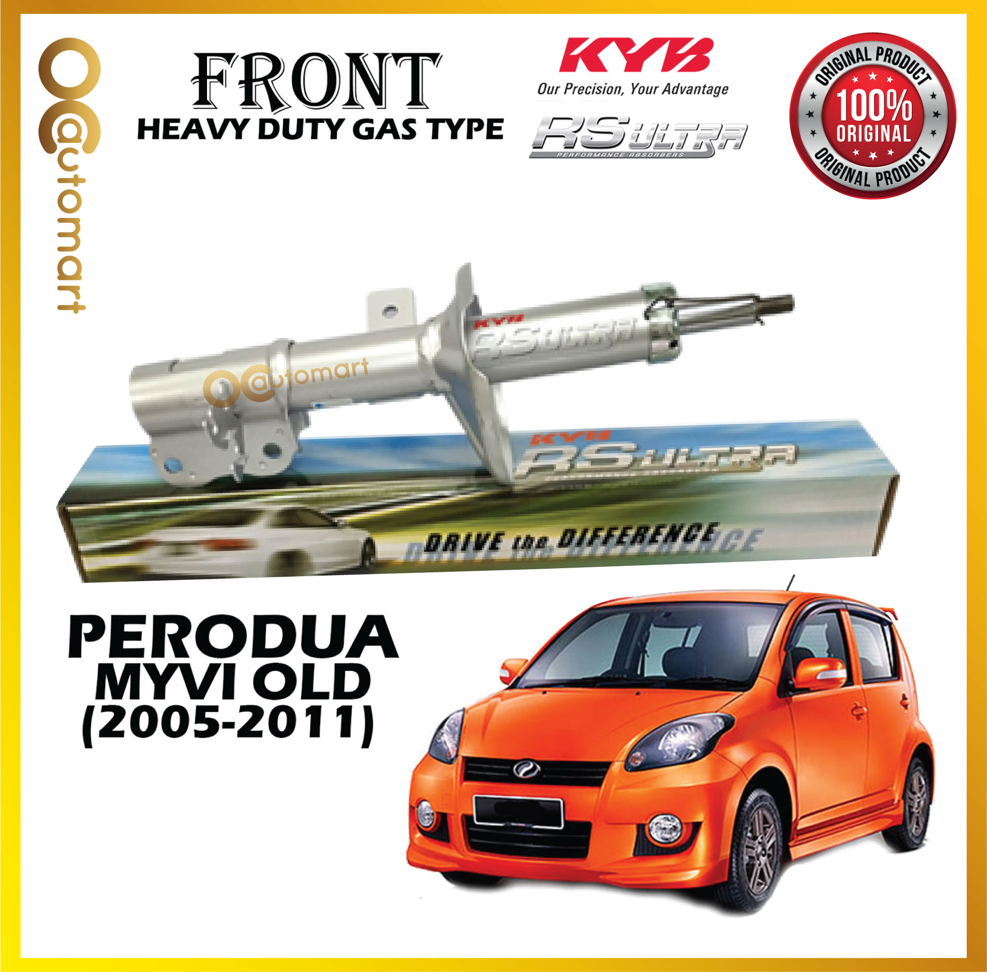 [1 PAIR] PERODUA MYVI FRONT & REAR SHOCK ABSORBER RS ULTRA ( HEAVY DUTY ) KAYABA KYB *ORIGINAL* (2005-2011)