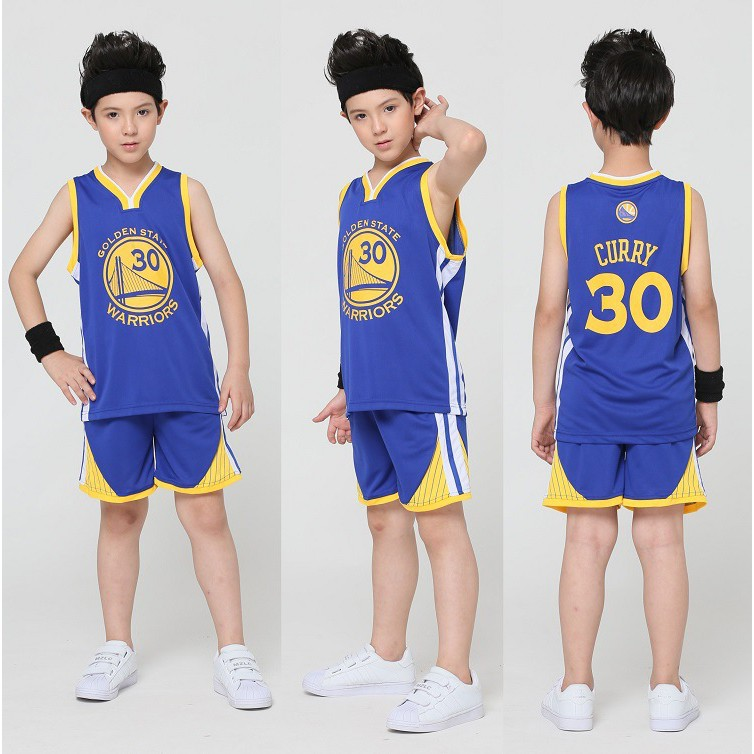promo code a0b8b 611a8 3 Color No.30 Stephen Curry Golden State Warriors Kids Basketball Jersey Set