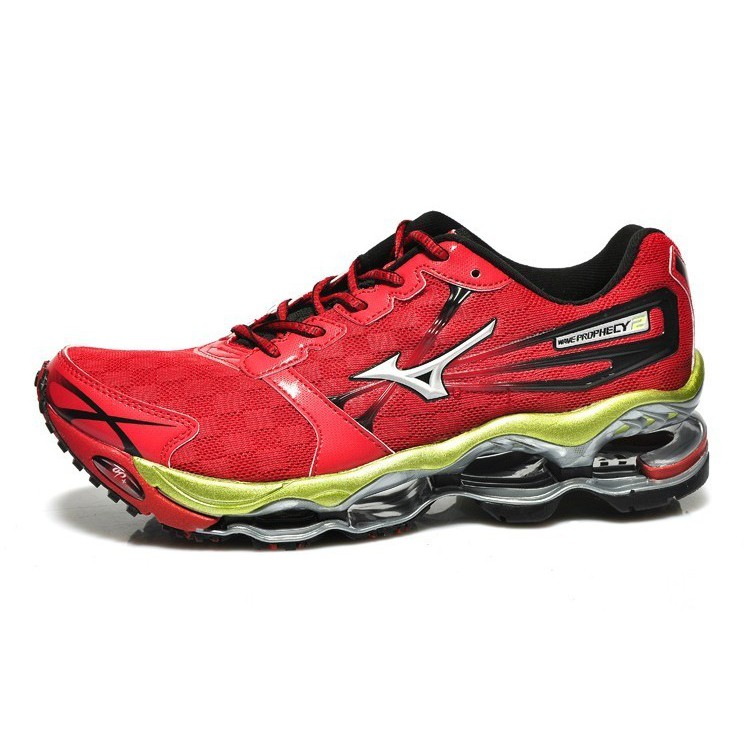 7531bb9d3387b7 Zapatos Mizuno Wave Prophecy 2 Running Shoes Red Yellowspor