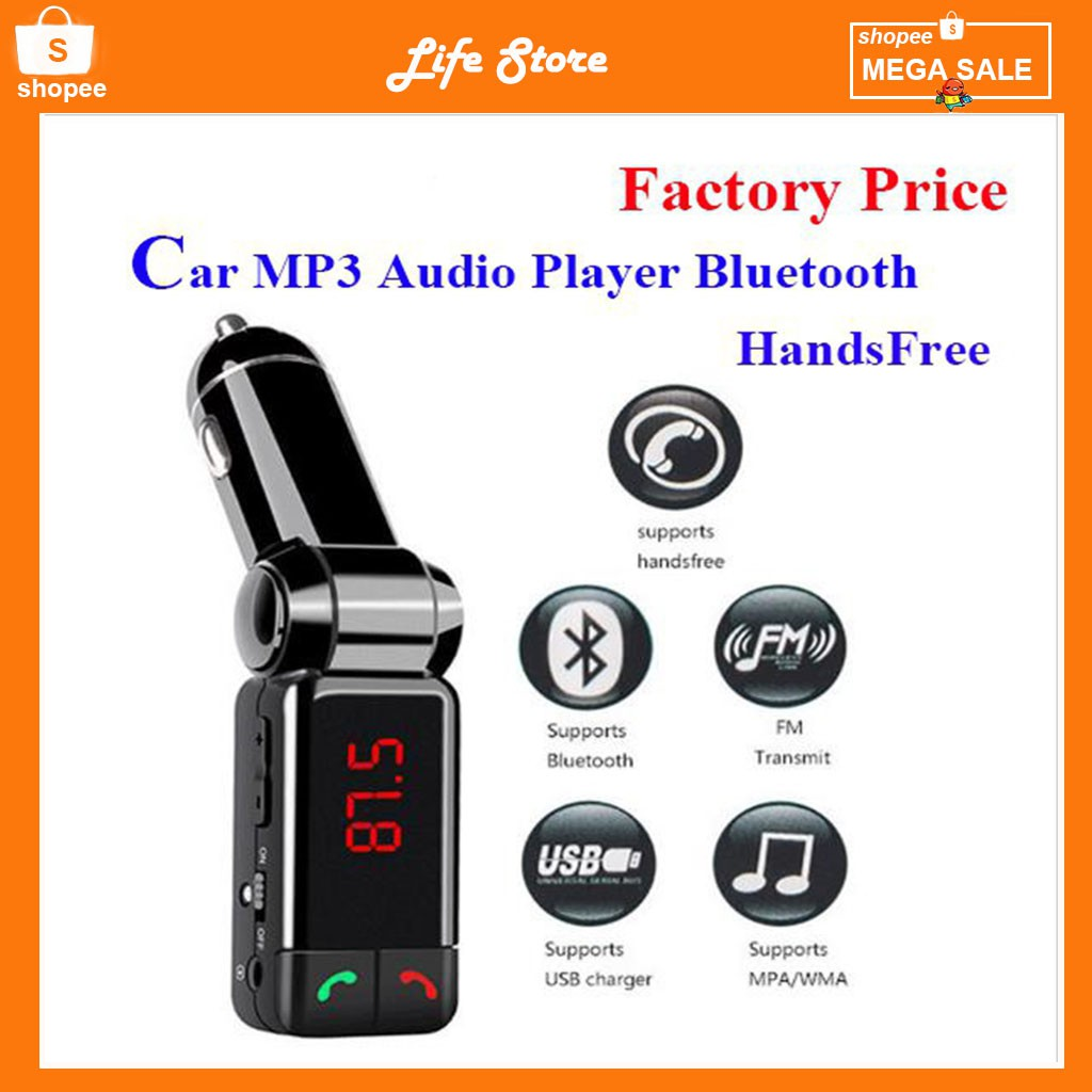Sast T56 Dual Usb Ports Bluetooth Car Charger Shopee Malaysia Bt20 Mp3 Wma Audio Transmitter Hands Free Call 5v 34a Support Tf Card Music Pl