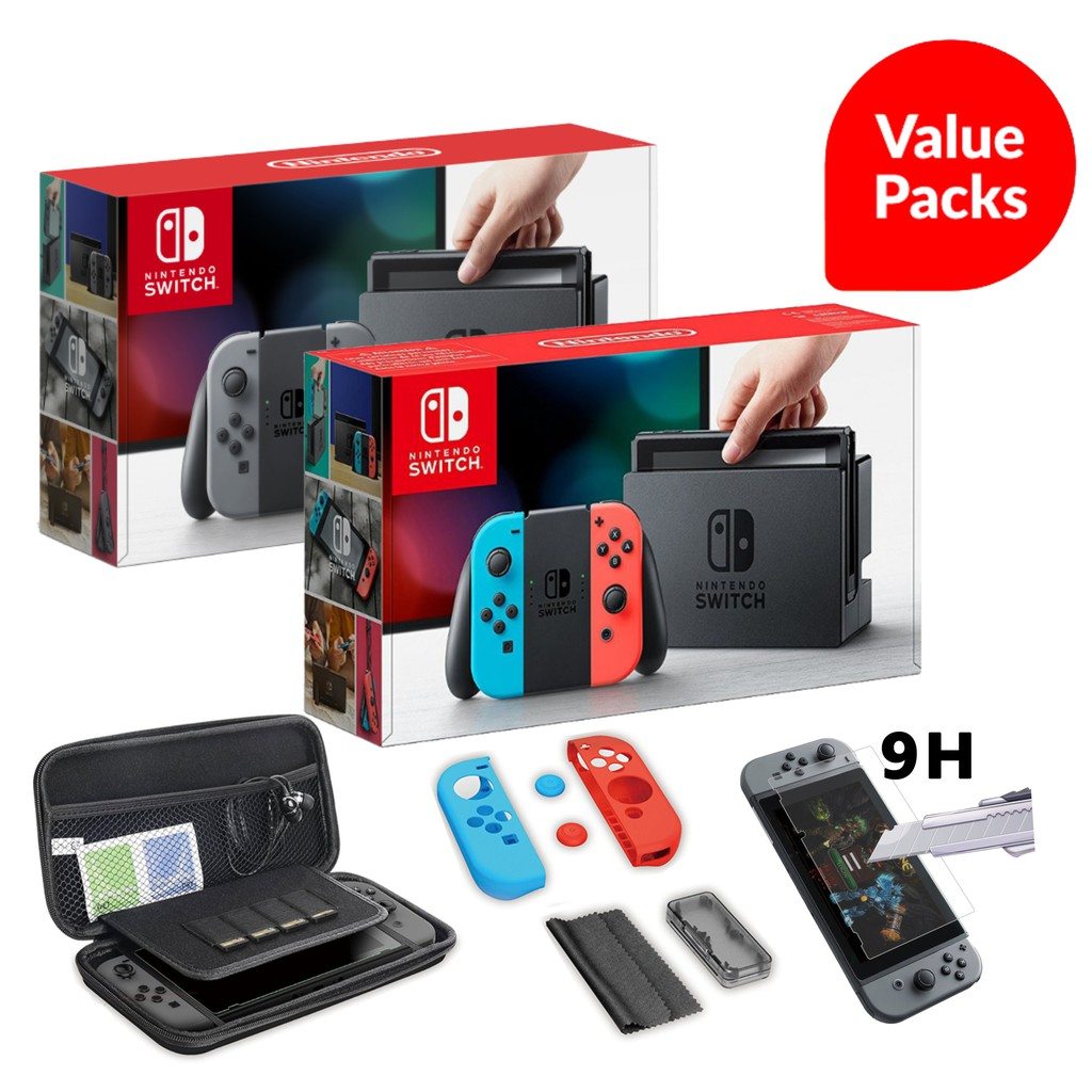 【PROMO】Nintendo Switch Neon / Grey VALUE PACK (1 Year MAXSOFT Malaysia  Warranty)
