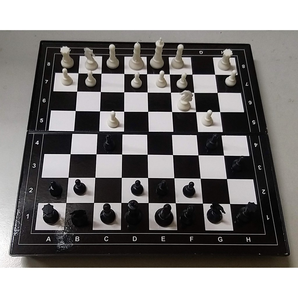 Travel Chess Game Set with Folding Chess Board