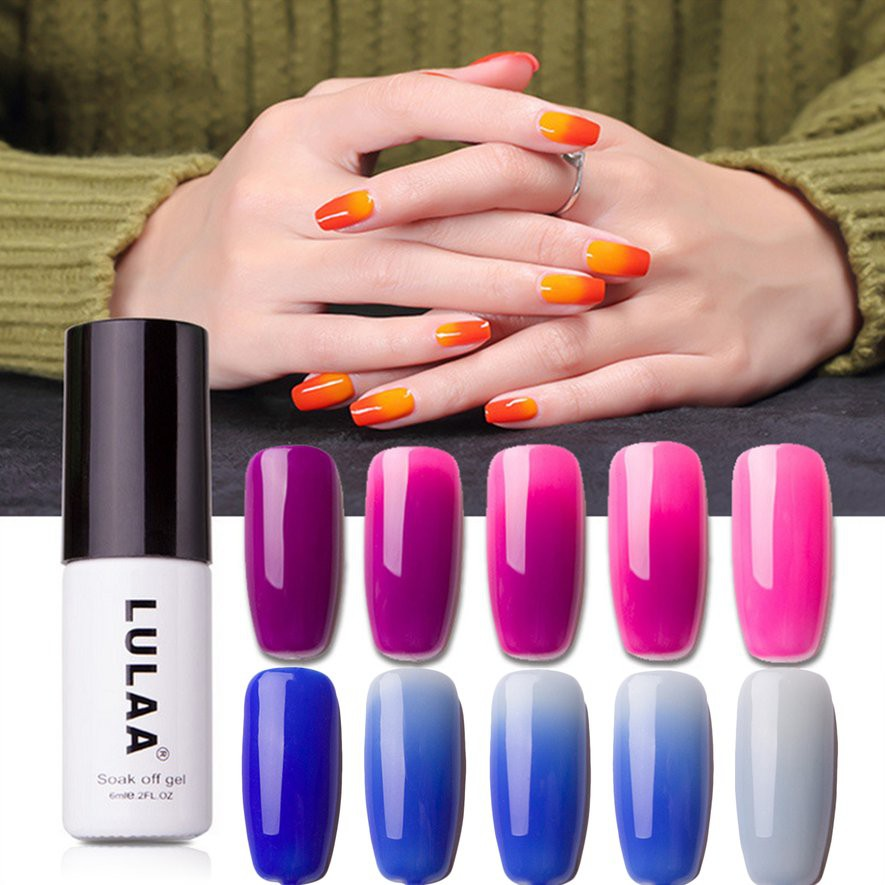 BDS Long-lasting Nail Polish Magic Temperature Changing Color Nail ...