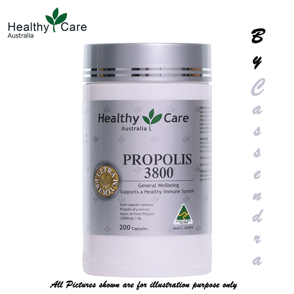 [100% from AUS] HEALTHY CARE Propolis 3800 (200 capsules)