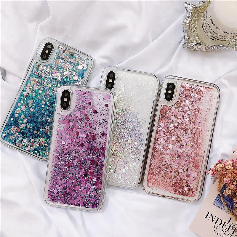 Half-wrapped Case Bling Case For Sony Xperia Xa1 Ultra Glitter Dynamic Liquid Quicksand Phone Cover G3212 G3221 G3223 G3226 Soft Silicone Cases 100% High Quality Materials Phone Bags & Cases