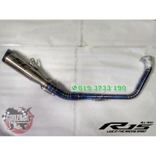 Yamaha YZF R15 V3 Full system Exhaust (ekzos)   Shopee Malaysia