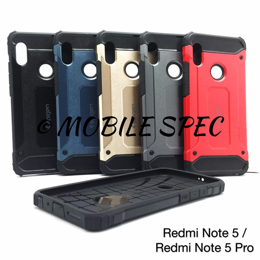 best authentic f7d69 b9b95 XIAOMI REDMI NOTE 5 6 PRO 5A PRIME SPIGEN TOUGH ARMOR PROTECTIVE BACK COVER  CASE