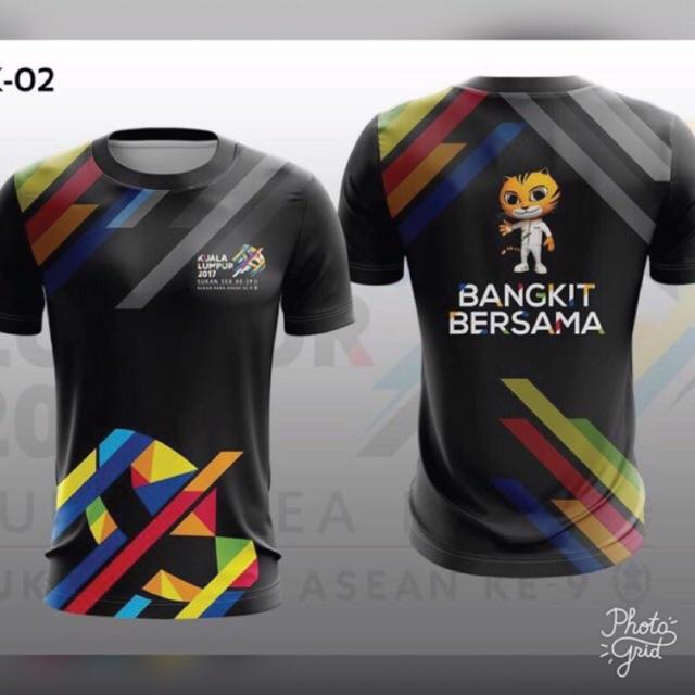 Sukan Sea 2017 Tshirt Shopee Malaysia