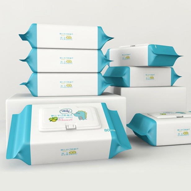 Baby Wet Tissue Vitamin E & Aloe Essence 60 Pieces 宝宝湿巾婴儿 60片抽 清洁手口湿巾快 消品湿纸巾 BB0020