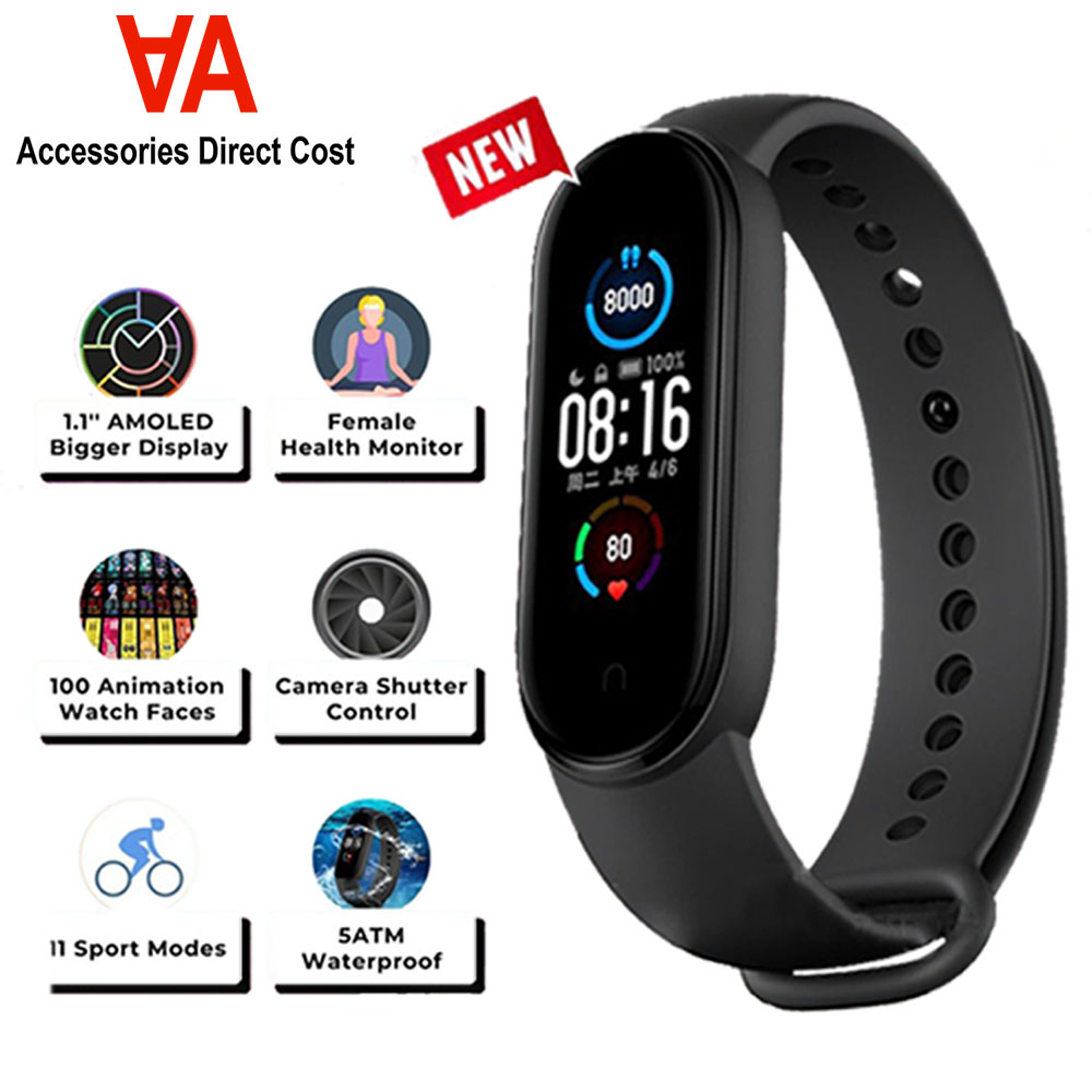 M5 Smart Watch Smart Fitness Tracker With Waterproof LED Touch Screen Smart Bracelet Blood Pressure Monitor