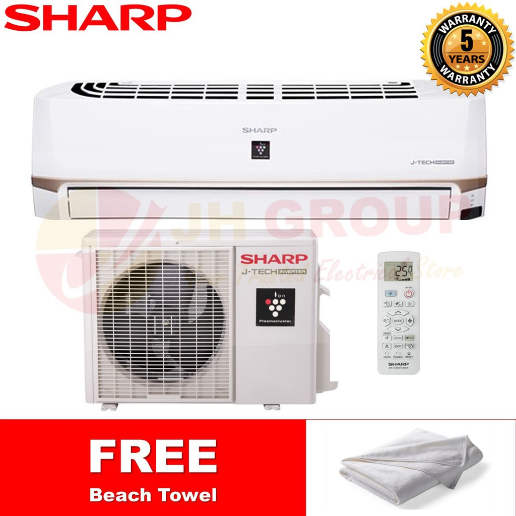 SHARP JAPAN AHXP13UHD / AUX13UHD 1.5HP R410A INVERTER PLASMACLUSTER AIR COND