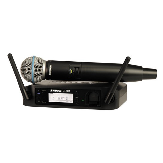 SHURE GLXD24/BETA 58 WIRELESS HANDHELD MICROPHONE