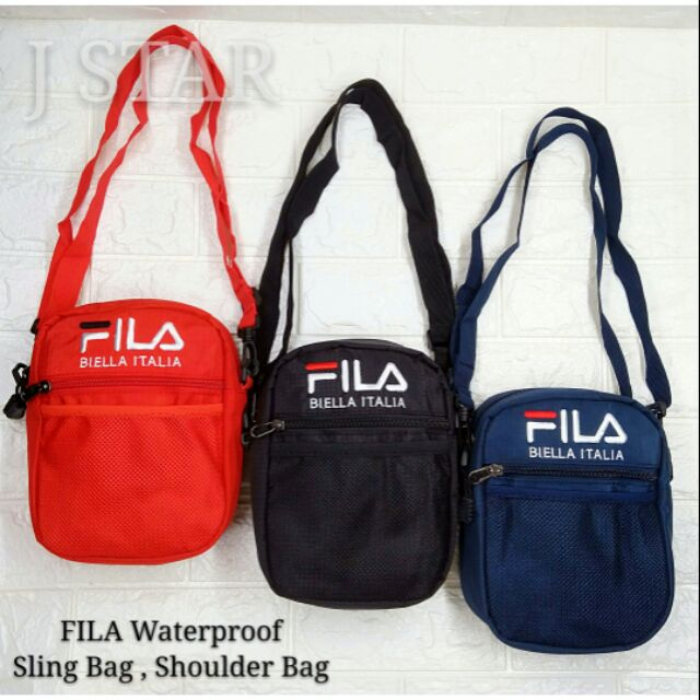 1951a77e8e Fila sling bag messenger shoulder unisex leather outdoor travel beg tali  murah | Shopee Malaysia