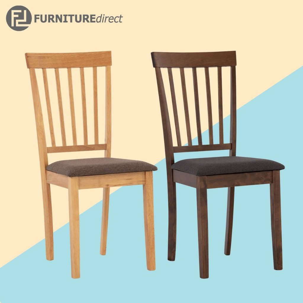 [ NEW ARRIVAL ] Furniture Direct MYLA full solid wood dining chair with cushion seat/ kerusi makan