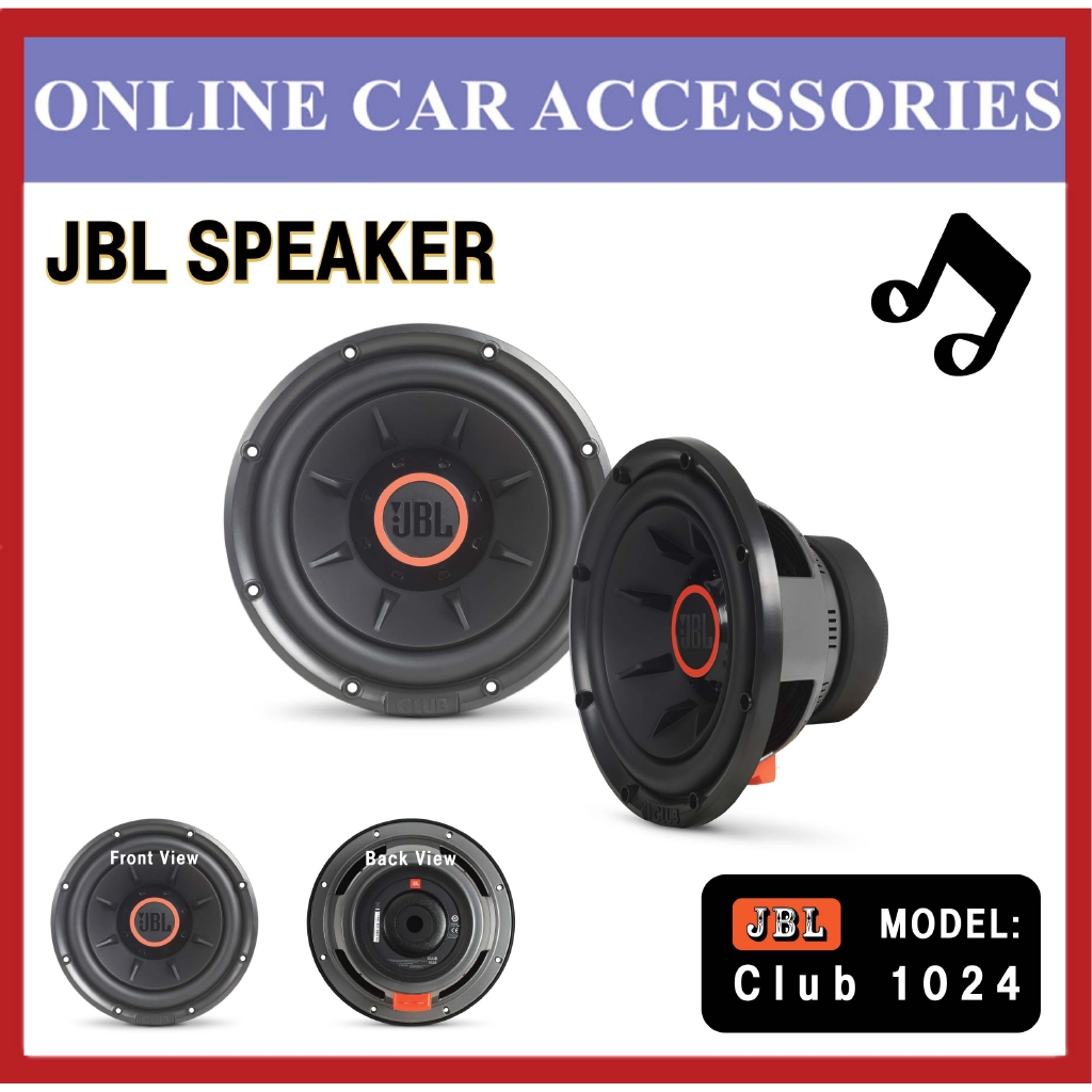 """JBL Club 1024 10"""""""" (250mm) Selectable Smart Impedance Subwoofer - 250W RMS 1000W Peak"""