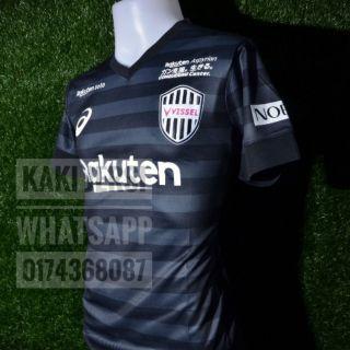 5e47f7e9bec 19 20 Vissel Kobe Second away black soccer jersey 2019 2020 football ...