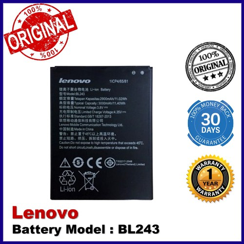 Original Lenovo A7000 / A7000 Plus / K3 Note (K50-T5) / S8 / A7600 BL243  Battery