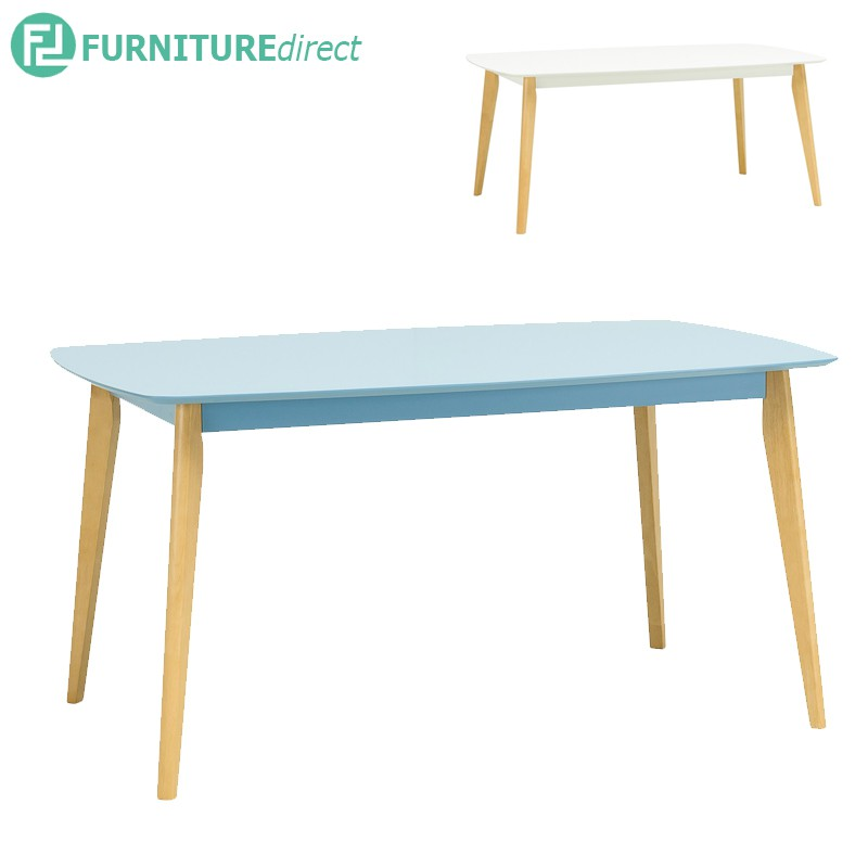 Arthur 1.5M solid rubberwood  dining table in Natural leg
