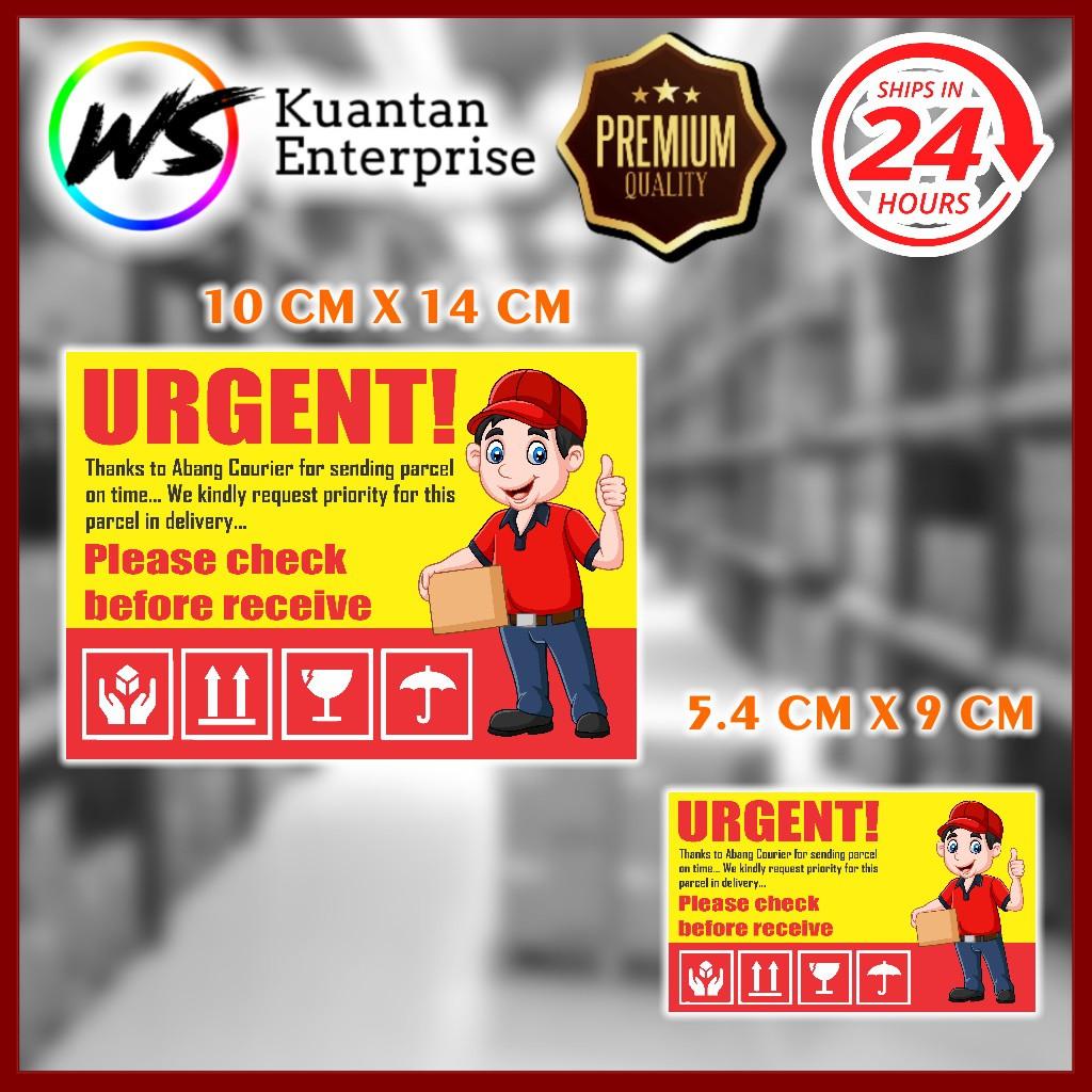 【100% Ready Stock】WATERPROOF STICKER Urgent Sticker / Fragile Sticker / Stiker Mudah Pecah