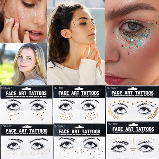 c00e49c0b7576 Beauty Gold Face Tattoo Stickers Temporary Body Art Bronzing Freckles |  Shopee Malaysia