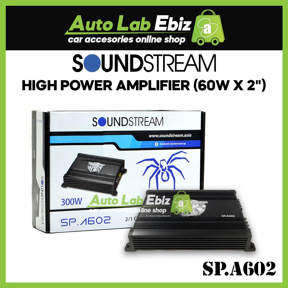 """Soundstream High Power Amplifier (60w x 2"""") SP.A602"""