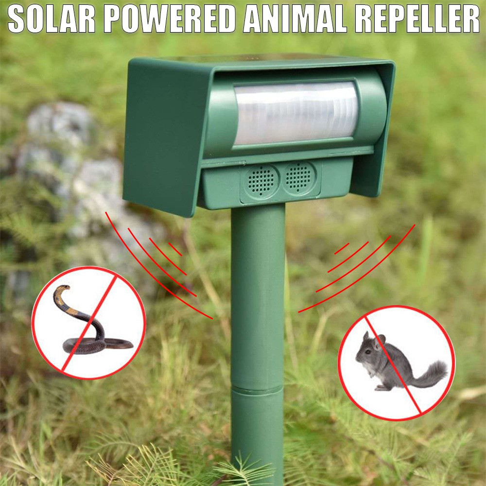 Animal Repeller Ultrasonic Outdoor Solar Powered Pest Bat Cat Dog Scarer Repellent Shopee Malaysia
