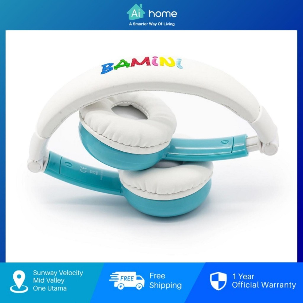 BAMINI Healthy - Child Stereo Foldable Over-Ear Wired Headphone   Low Decibel Hearing   Early Childhood Education