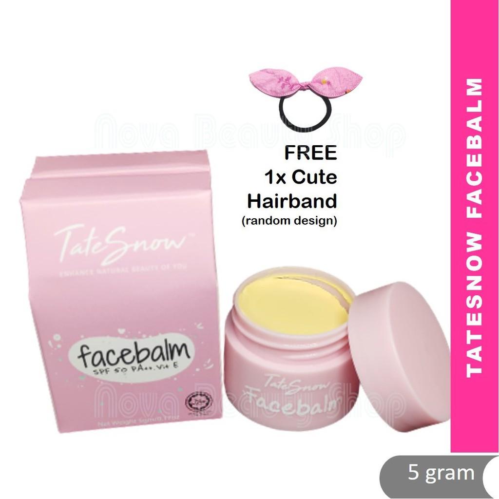 Tatesnow Facebalm SPF50 Vitamin E Instant Glowing! Mencerahkan Brightening Whitening Berseri Licin