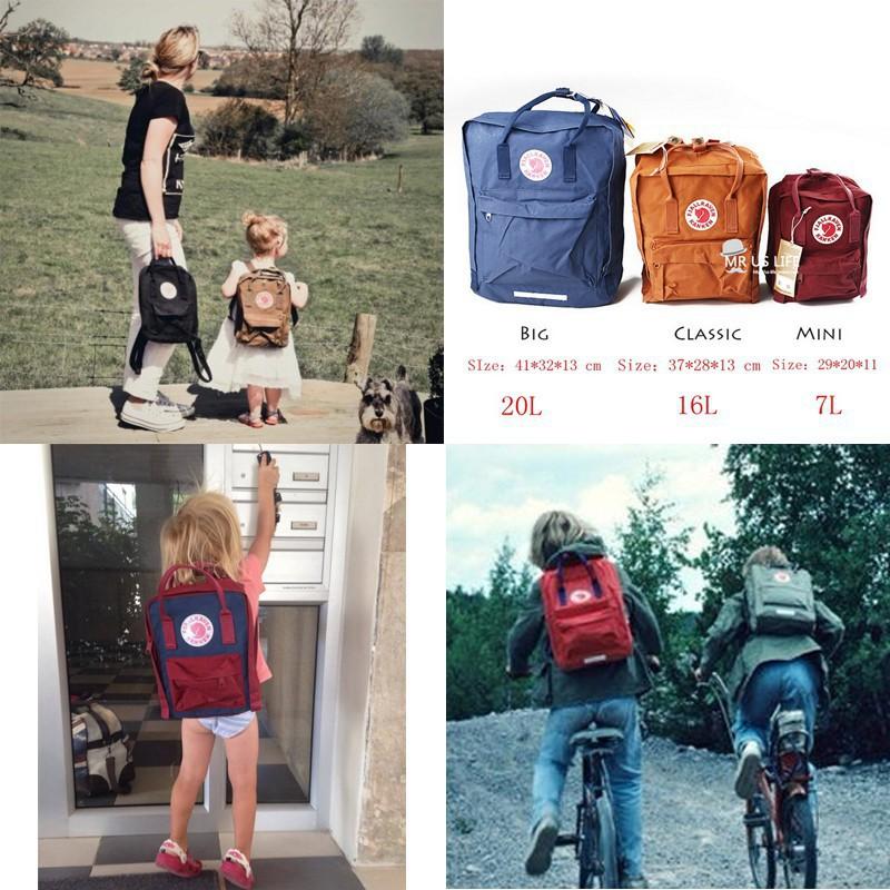 kupować nowe za pół na stopach o KANKEN 7L 16L 20L Backpack unisex casual schoolbags travel handbag classic