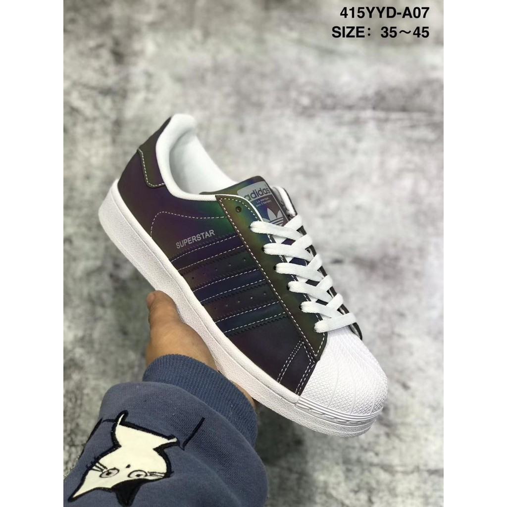 Respectivamente Injusto Color rosa  Adidas Superstar Colorful Chameleon Reflective Clover Shell Head Sneakers |  Shopee Malaysia