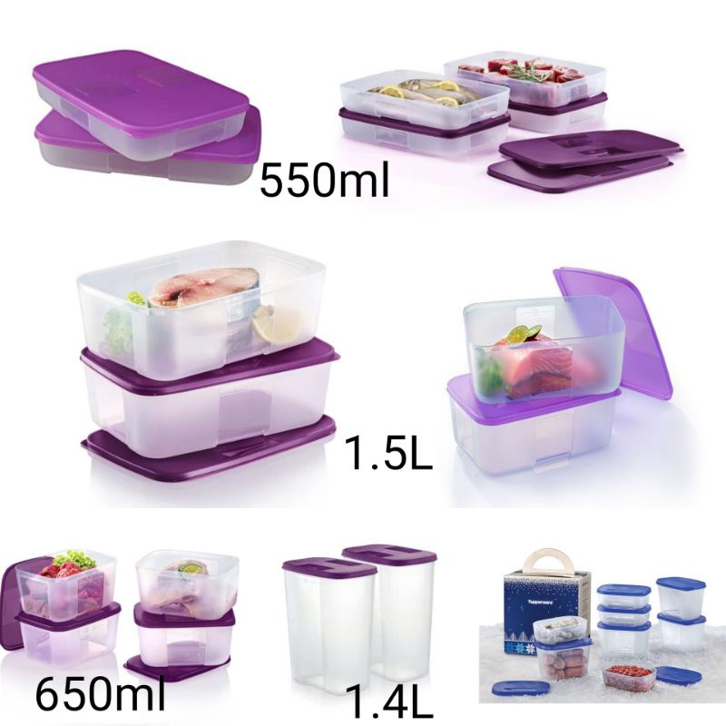 {ReadyStock}Tupperware FreezerMate Junior Set / 250ml / 290ml / 550ml / 650ml / 1.5L 1500ml / 2.3L 2300ML