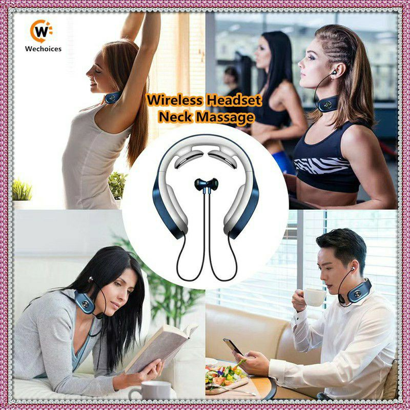 Wireless Headset Neck Massage❤Bluetooth Earphone❤Wireless Music❤Relax (viral)