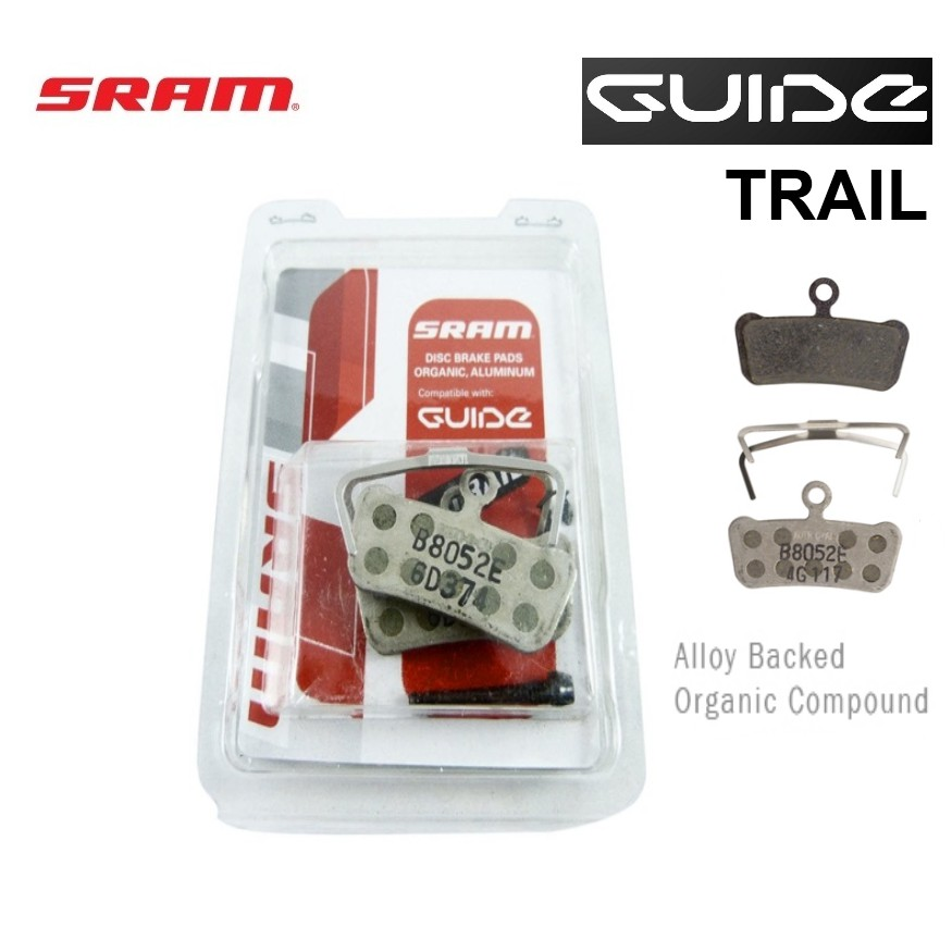 Genuine SRAM Guide Avid Trail Aluminum Backed Organic Compound Disc Brake Pads