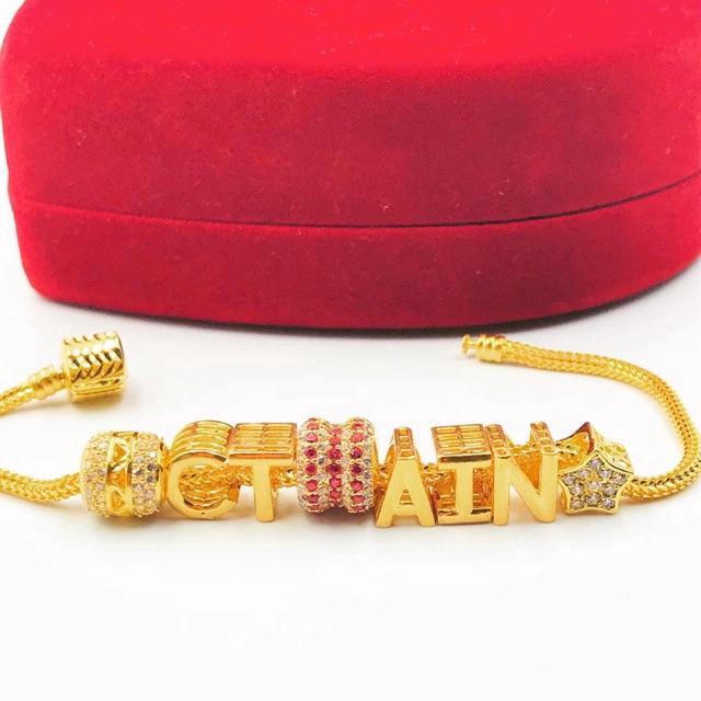 Masdora Beads Alphabets 3D ~ Alphabets N-Z (Emas 916)