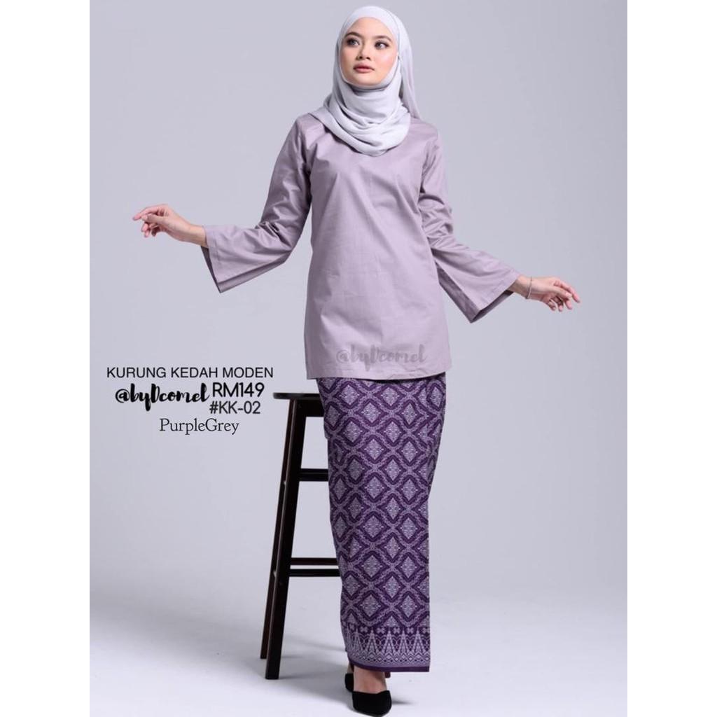 Kurung Kedah Moden Plain Songket Shopee Malaysia