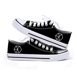 KPOP exo EXODUS Trend Students Canvas Low Top Shoes
