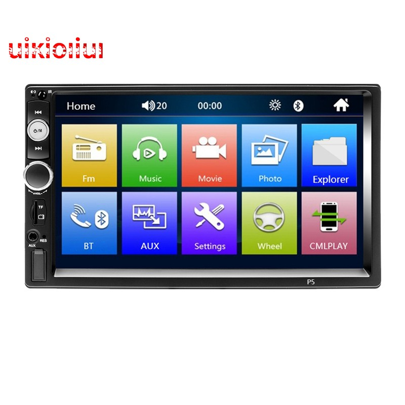 Double Din Car Stereo,7-Inch 1080P Press Screen Car Radio Mp3/Mp5/Fm Player  Supports Dvr Reversing I