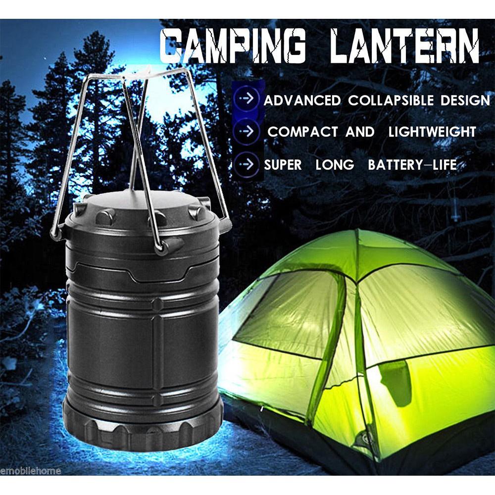 30 LED Camping Lantern Portable Collapsible Hiking Night Light Lamp Flashlights