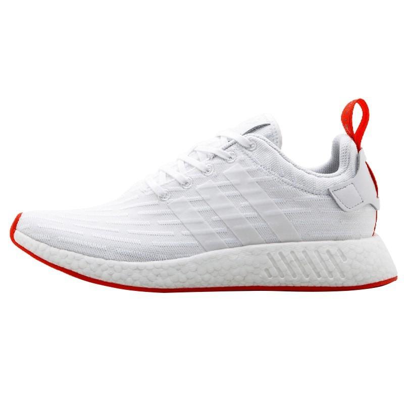 los angeles a5f9d 7c2ad Adidas NMD R2 Boost white men leisure shoes BA7253 BA7252