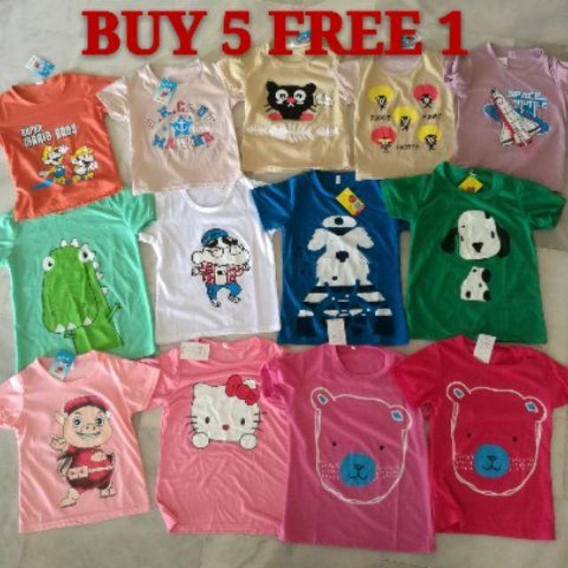 [ READY STOCK ]New Casual Home T-shirt Kid Age 2-5 Years Old Budak Baju Jualan Murah Baby