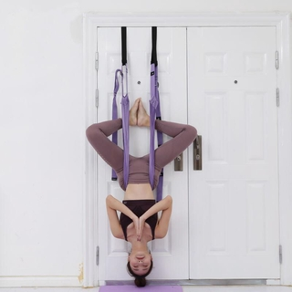 aerial yoga rope stretching belt home lower waist training