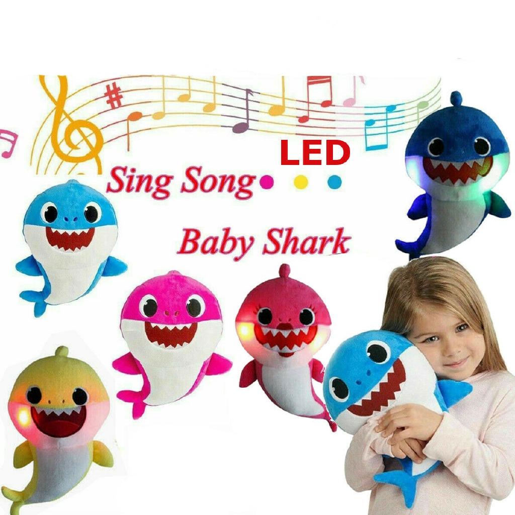Kids Baby Plush Shark Singing English Song Toy Cartoon Music Doll Musical Toys
