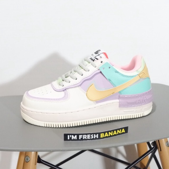 Quercia Digitale Piedi morbidi  F NIKE AIR FORCE 1 ONE SHADOW PALE IVORY PASTEL WHITE PINK PURPLE BLUE  YELLOW | Shopee Malaysia