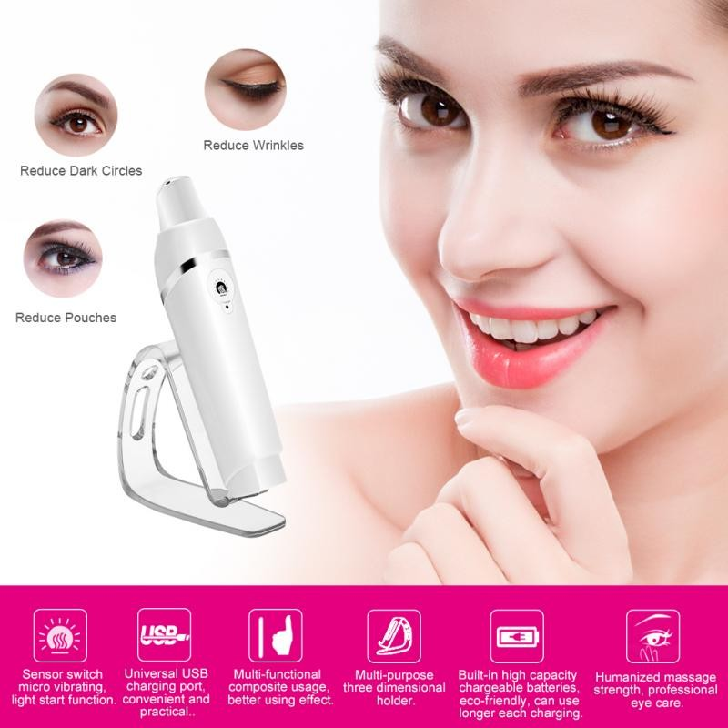 Multi-function Eye Massager Heating Facial Anti-aging Vibration Wrinkle  Removal | Shopee Malaysia