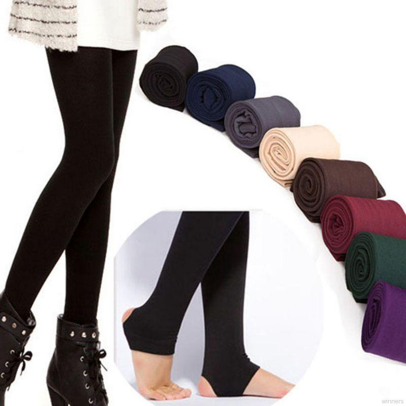 Women Winter Warm Thick Fleece Fur Lined Thermal High Waisted Leggings Pants