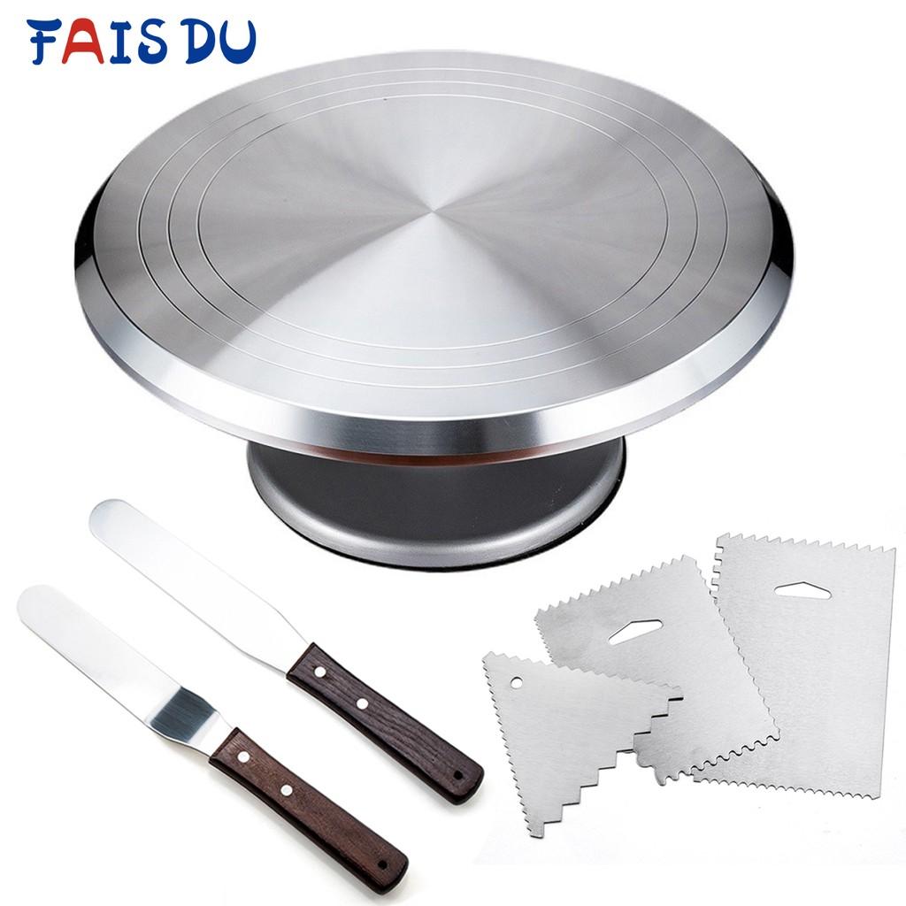 Fais Du 6 Pcs/set Aluminum Alloy Turntable Set