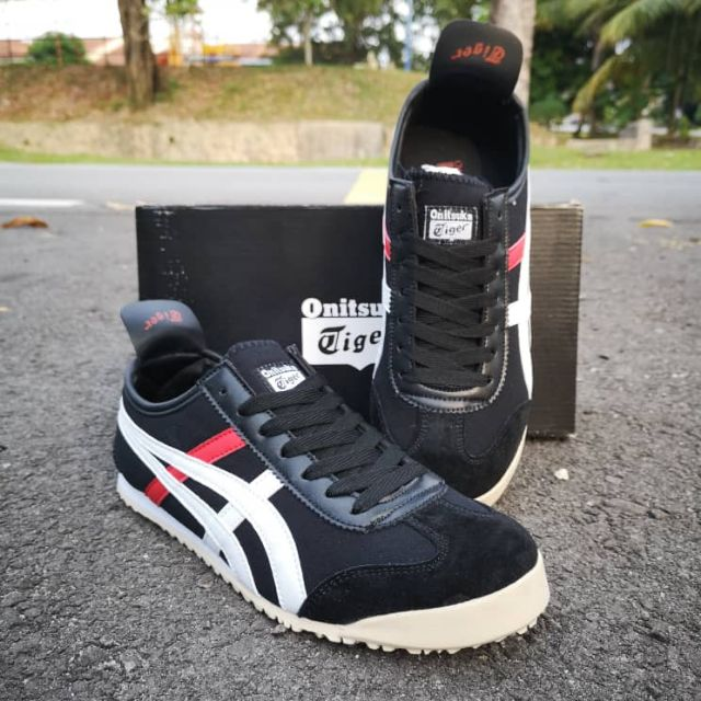 release date: dee6a 9c302 ASICS ONITSUKA TIGER BLACK WHITE RED SIZE 40-45 READY STOCK MALAYSIA + FREE  GIFT