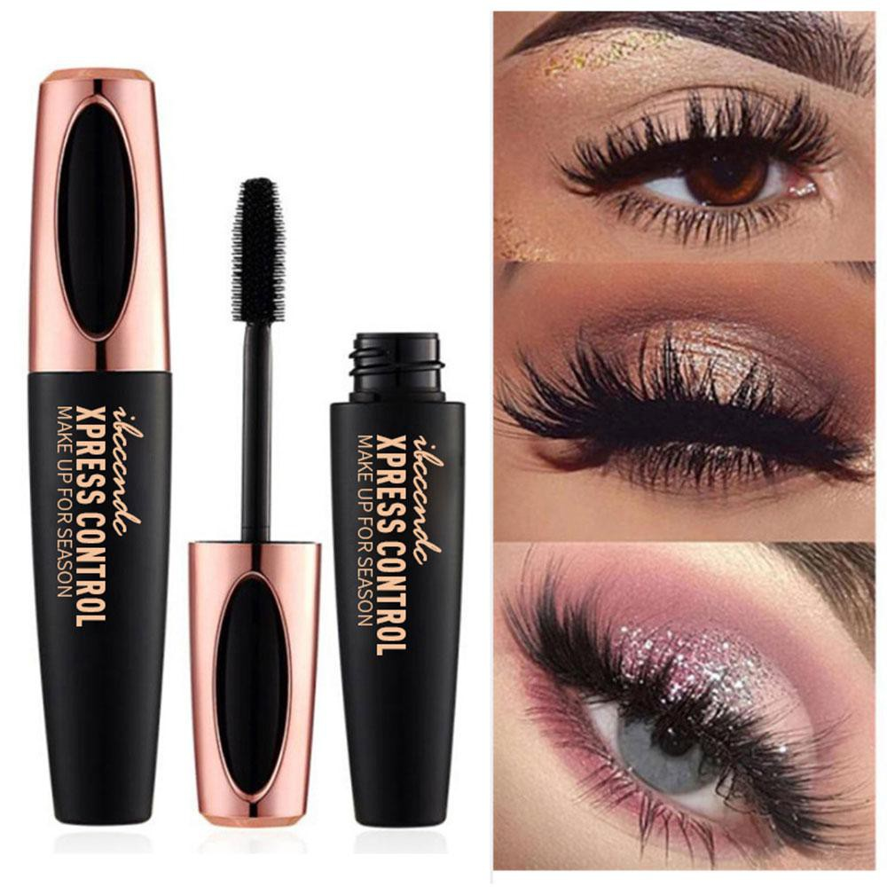 fcd02d6621a8 Black Waterproof 4D Silk Fiber Eyelash Mascara Curling Lengthening Eye  Makeup