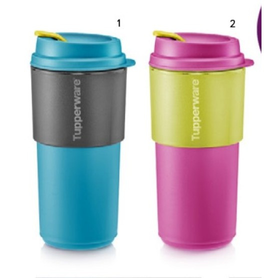 Tupperware Coffee To Go 490ml / Small Round Container 200ml